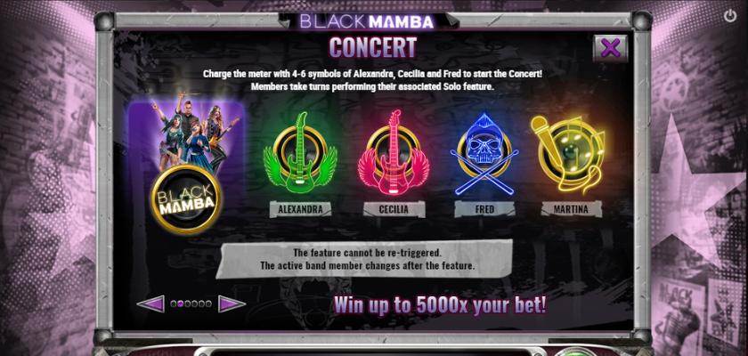 Black Mamba - features