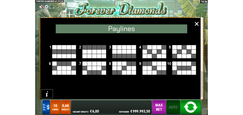 Forever Diamonds - paylines